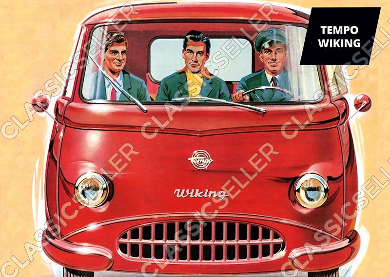 Tempo Wiking Wagen Auto PKW Poster Plakat Bild