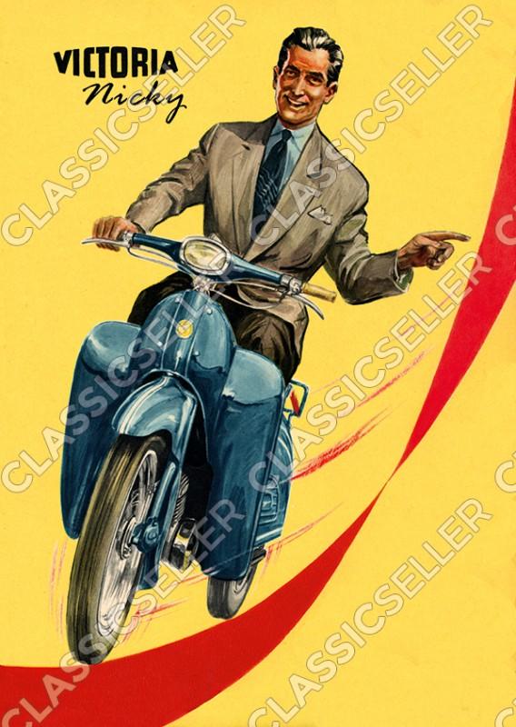 Victoria Nicky Moped Poster Plakat Bild