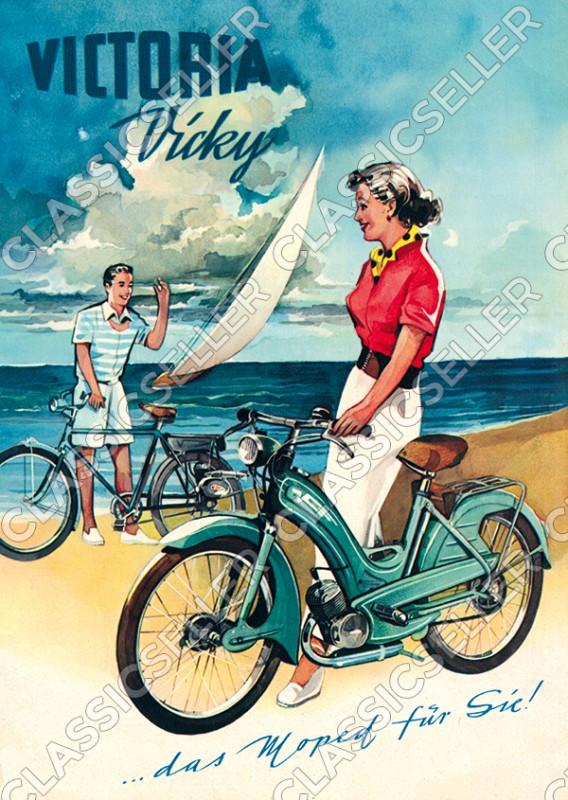 Victoria Vicky Moped Poster Plakat Bild