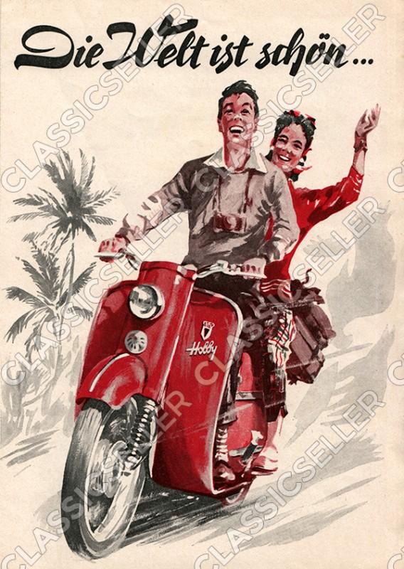 DKW Hobby Motorroller Poster Plakat Bild