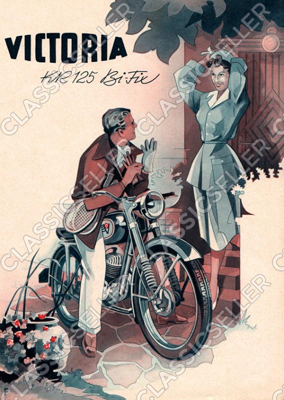 Victoria KR 125 KR125 Bi-Fix Bifix Motorrad Poster Plakat Bild