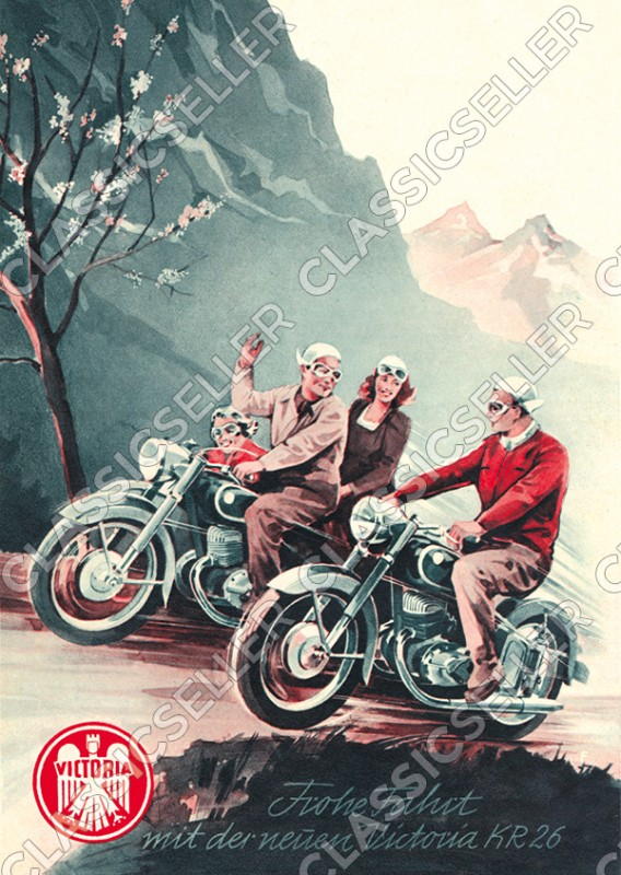 Victoria KR 26 KR26 motorcycle Poster Picture
