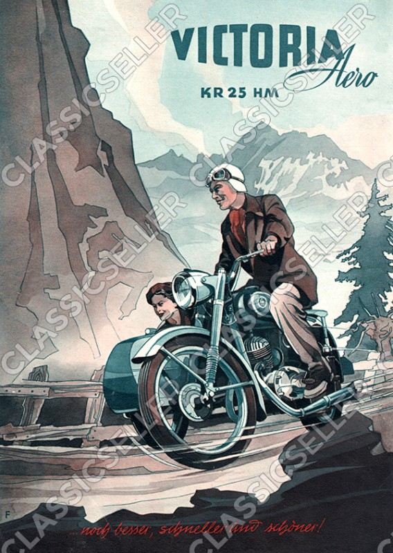 Victoria KR 25 KR25 HM Aero Motorcycle Poster Picture
