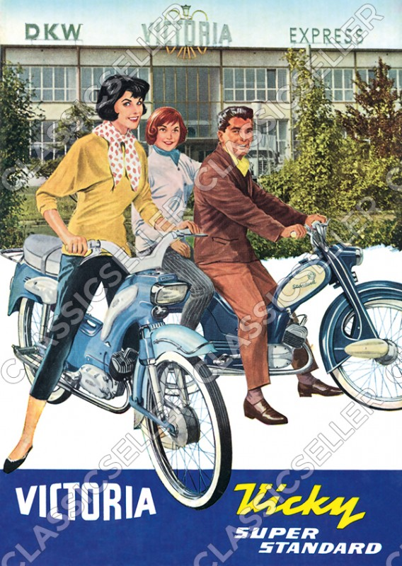 Victoria Vicky Super Standard Moped Poster Picture