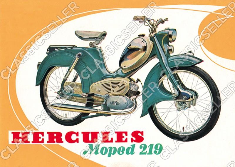 Hercules Moped Typ 219 Poster Plakat Bild