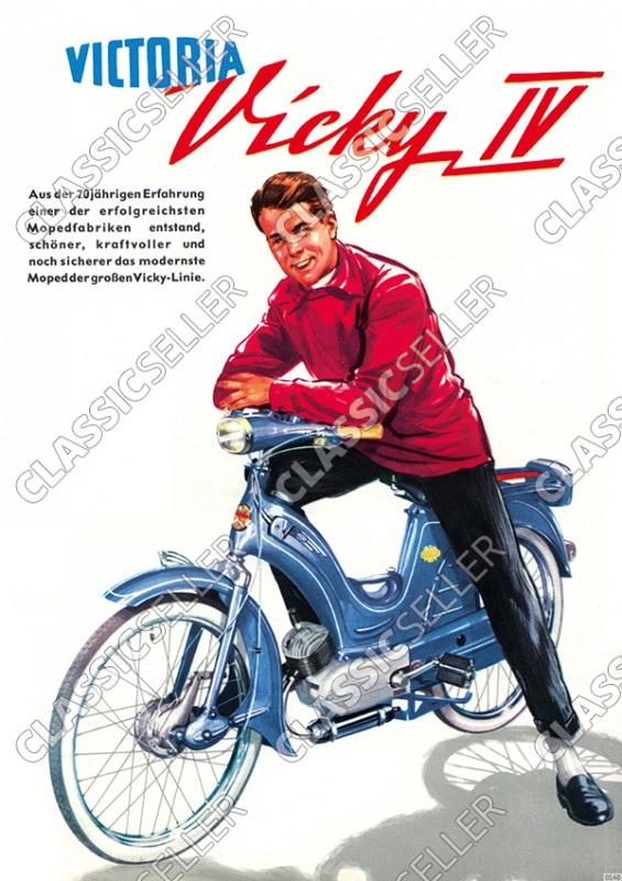 Victoria Vicky IV 4 Moped Poster Plakat Bild
