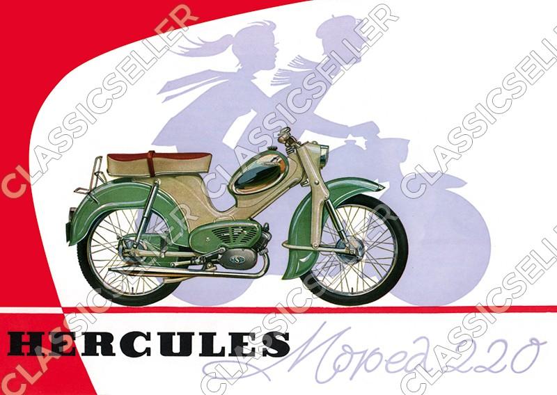 Hercules Moped Typ 220 Poster Plakat Bild