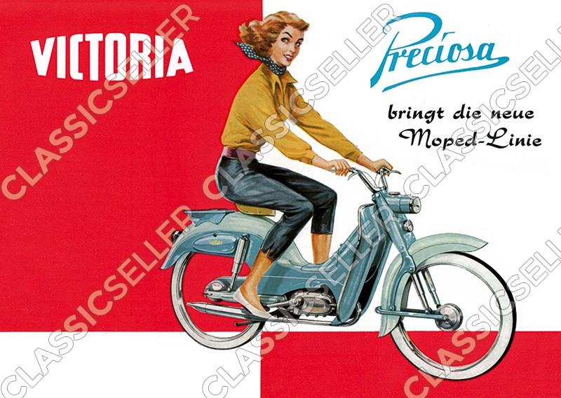 Victoria Preciosa Moped Poster Picture