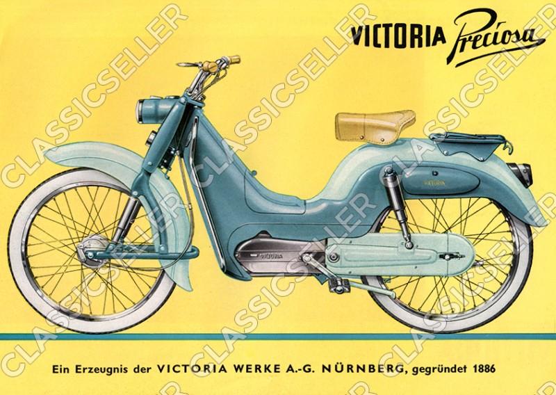Victoria Moped Preciosa Poster Picture