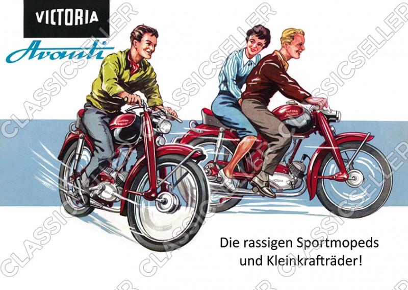 Victoria Avanti Moped Poster Plakat Bild