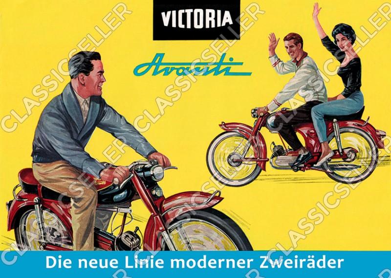 Victoria Moped Avanti Poster Picture