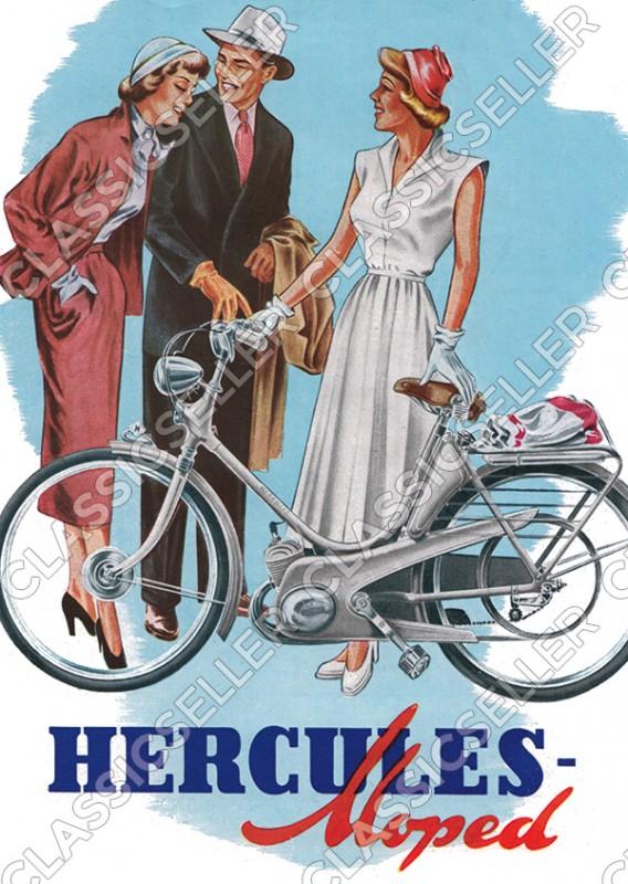 Hercules Moped Mofa Poster Plakat Bild
