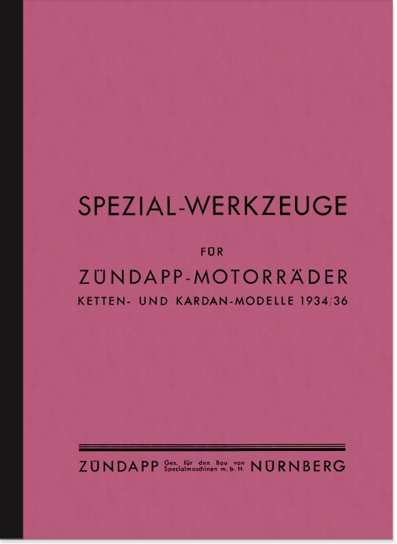 Zündapp Anleitung Liste Handbuch Spezial-Werkzeuge K 350 500 800 KS  Derby DB DL KK DBK DBL DE