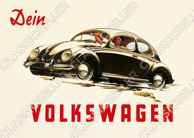 "VW Beetle ""Your Volkswagen"" Poster Picture Kdf"