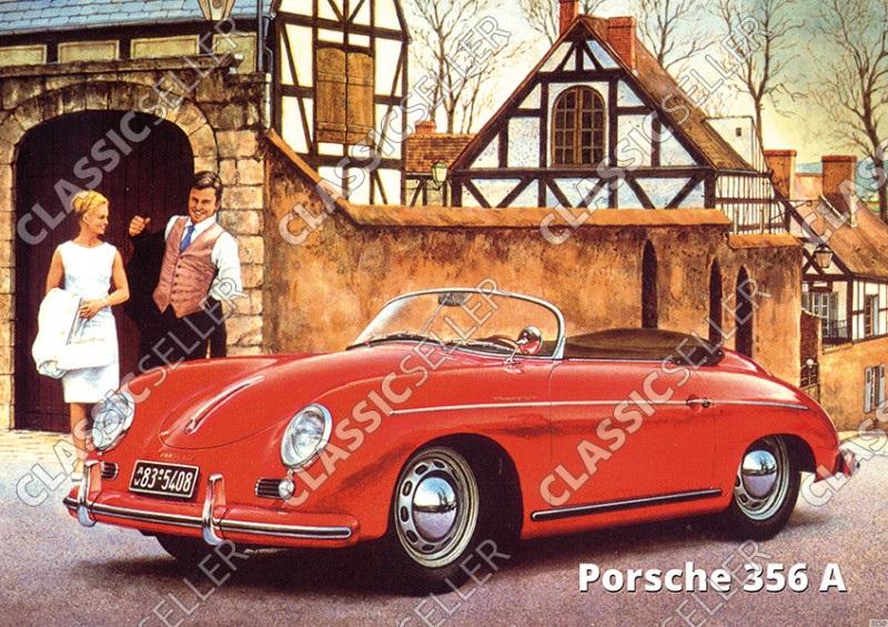 Porsche 356 A Poster Plakat Bild