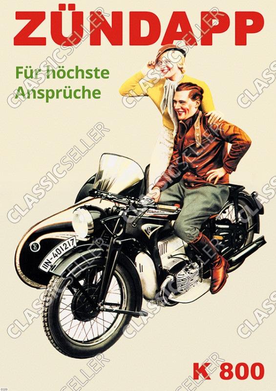 Zündapp K 800 K800 Motorrad Poster Plakat Bild
