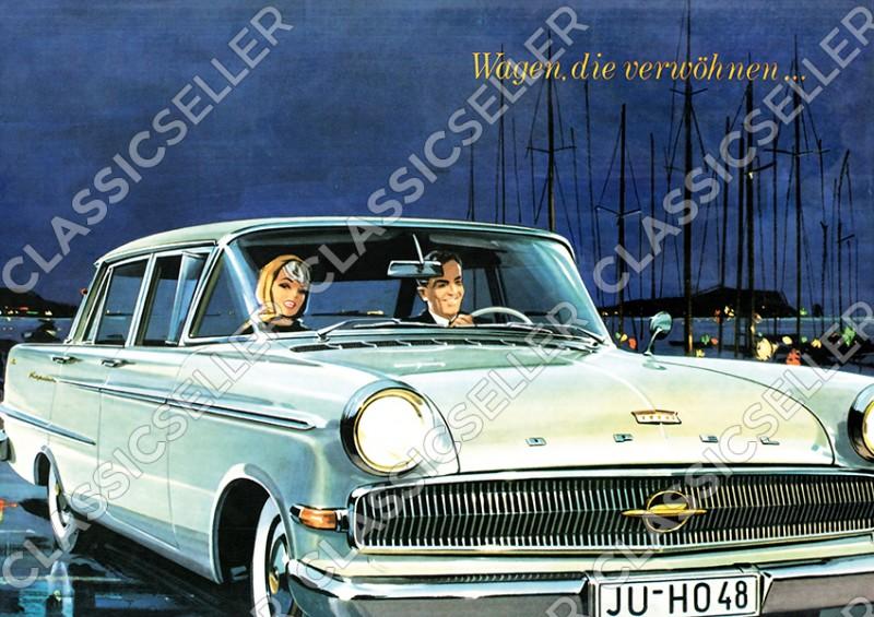 Opel Kapitän P 2,6 Poster Plakat Bild