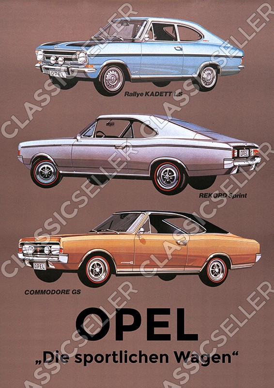 Opel Rallye Kadett LS Record Sprint Commodore GS Poster Picture