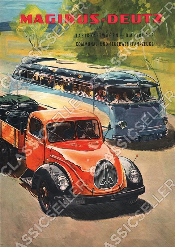 Magirus-Deutz LKW Nutzfahrzeug Omnibus Feuerwehr Poster Plakat Bild