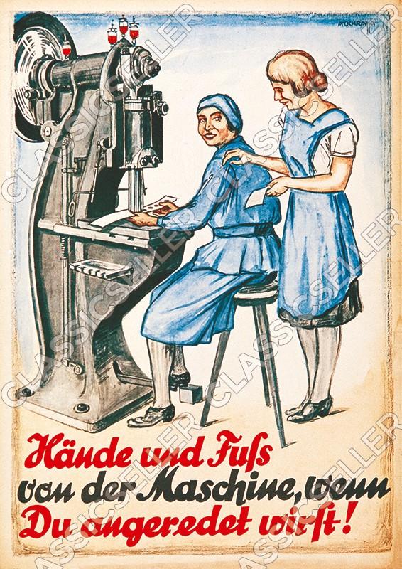 Arbeitsschutz Sicherheit Sicherheitshinweis Poster Plakat Warnung Hinweis - Motiv 22