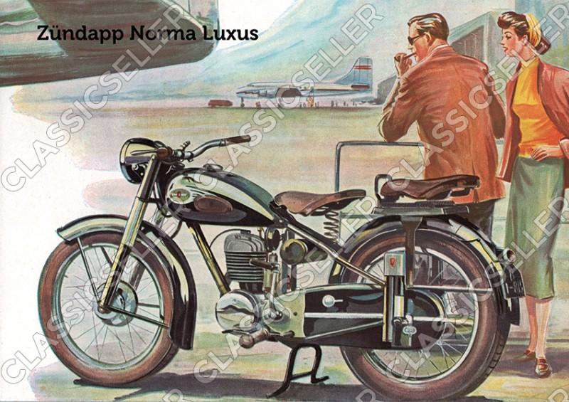 Zündapp Norma Luxus Motorrad Poster Plakat Bild