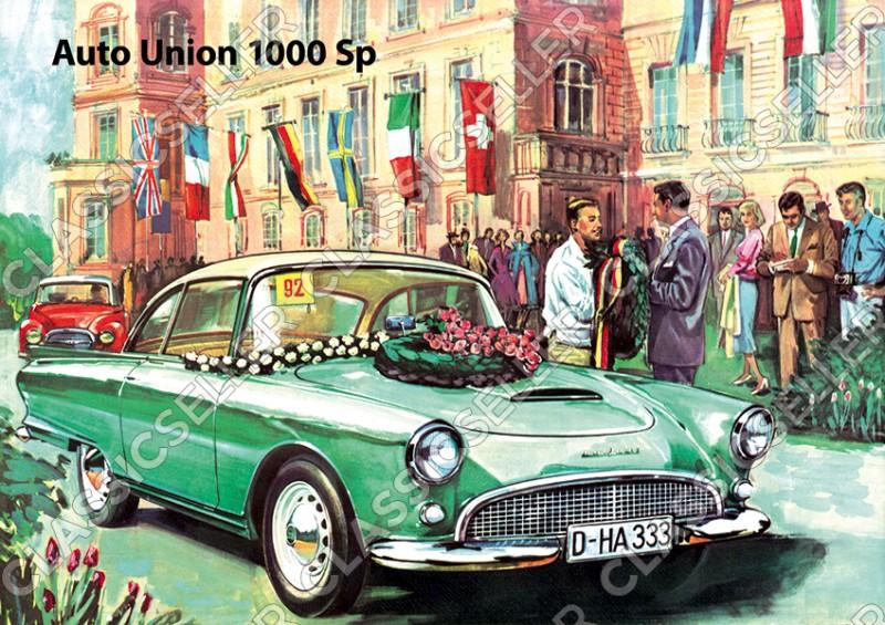 "Auto Union AU 1000 Sp ""Veranstaltung"" Poster Plakat Bild Kunstdruck"