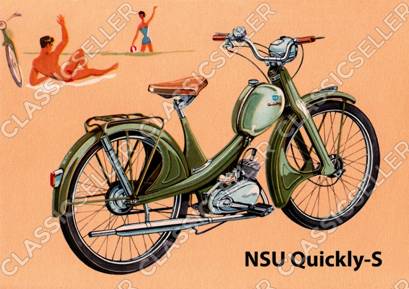 NSU Quickly-S Quickly S Moped Poster Picture art print