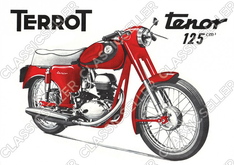 Terrot Tenor 125 ccm motorcycle Poster Picture art print