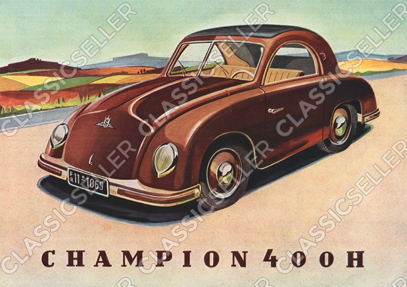 Champion 400 H Auto PKW Poster Plakat Bild Kunstdruck