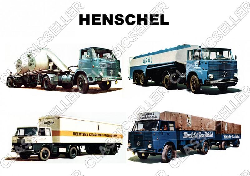 Henschel Nutzfahrzeug LKW Tanklastwagen Beton Zement Poster Plakat Bild Kunstdruck