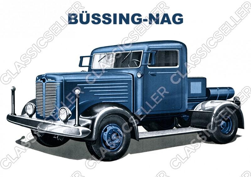 Büssing-Nag Nutzfahrzeug LKW Diesel Eilschlepper Fernschlepper Poster Plakat Bild Kunstdruck