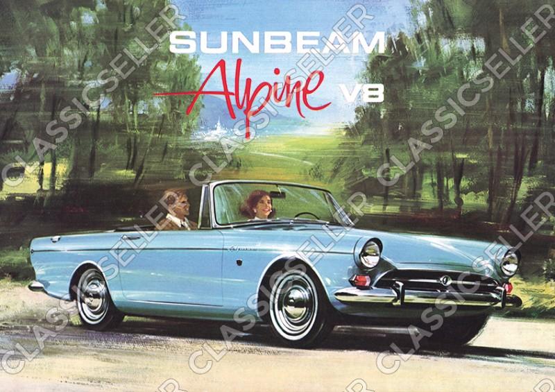 Sunbeam Alpine V8 Auto PKW Poster Plakat Bild Kunstdruck