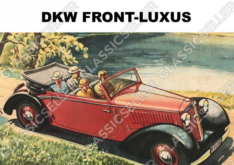 DKW Front-Luxus Frontwagen F2 F4 F5 F7 F8 Cabriolet Auto PKW Poster Plakat Bild Kunstdruck