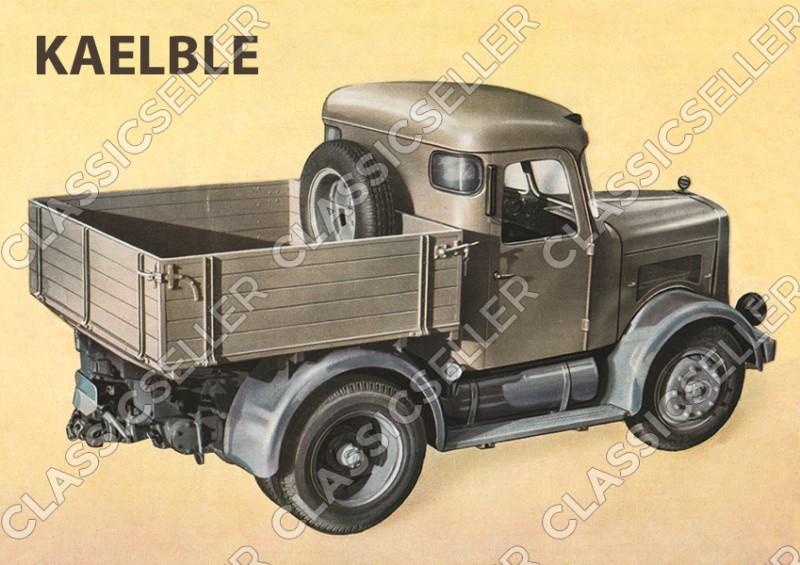 Kaelble Typ K415Z K 415 Z Zugmaschine Nutzfahrzeug Poster Plakat Bild Kunstdruck