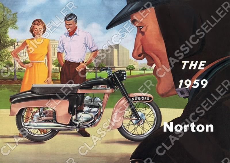 Norton Jubilee 250 1959 Motorrad Poster Plakat Bild Kunstdruck