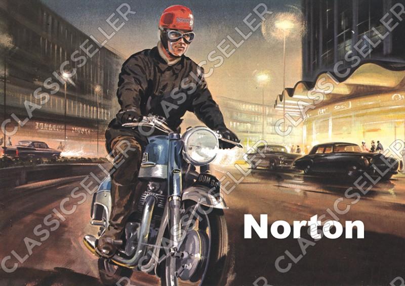 Norton Dominator 99 Motorrad Poster Plakat Bild Kunstdruck
