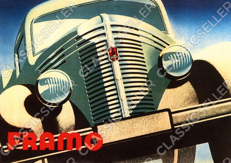 Framo V 501 Kleintransporter Poster Plakat Bild Kunstdruck
