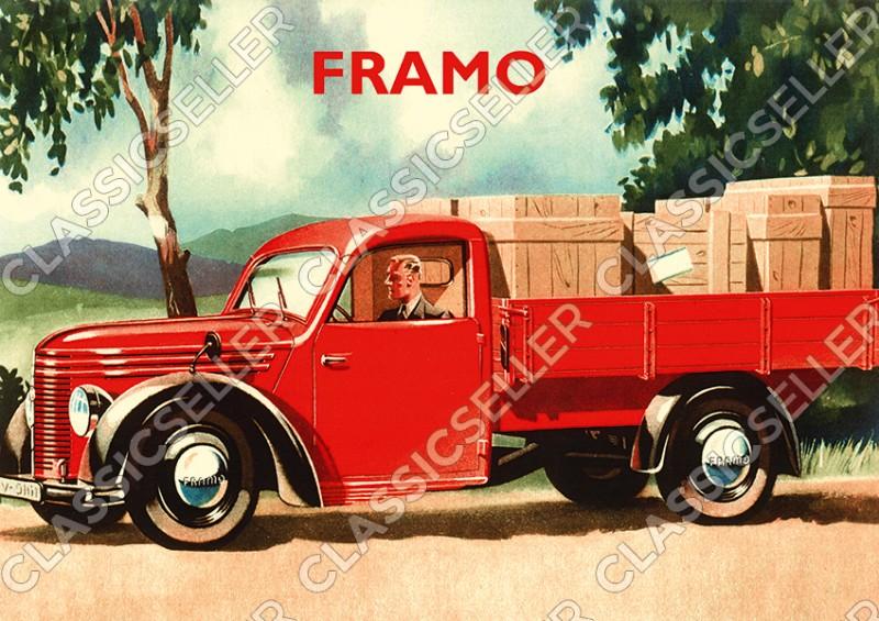 Framo V 501 Kleintransporter Seitlich Poster Plakat Bild Kunstdruck