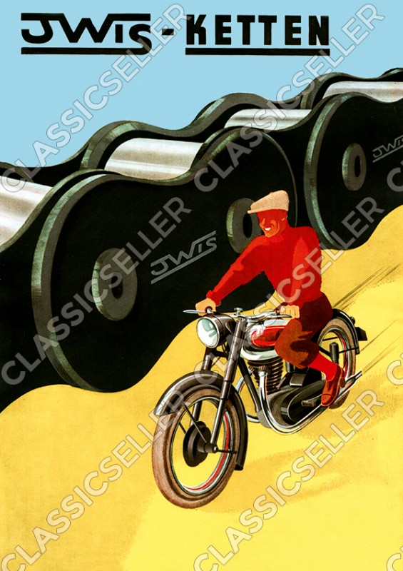 Iwis Ketten Poster Plakat Bild Kunstdruck Werbung Reklame Kette