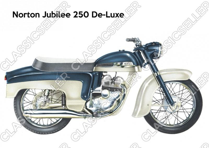 Norton Jubilee 250 De-Luxe Motorrad Poster Plakat Bild