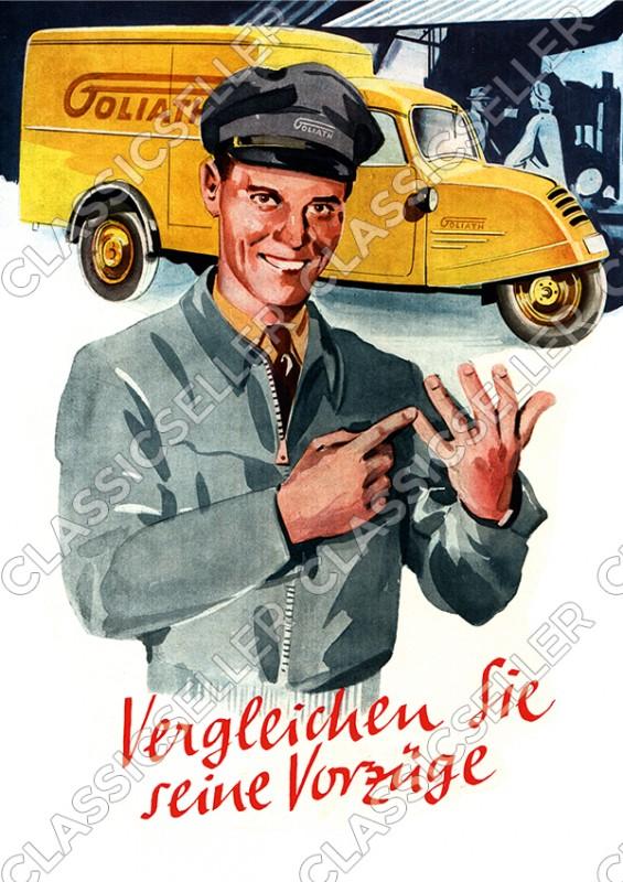 Goliath GD 750 Kastenwagen Lieferwagen Kleintransporter Nutzfahrzeug Poster Plakat Bild