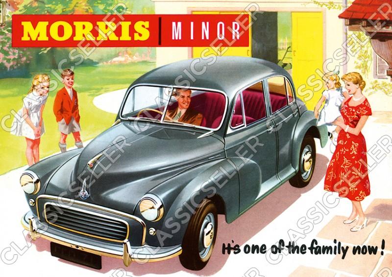 "Morris Minor ""Family"" PKW Auto Poster Plakat Bild Kunstdruck"