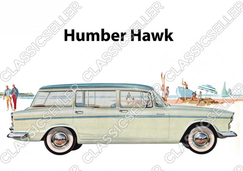 """Humber Hawk Auto PKW """"Strand"""" Poster Plakat Bild Kunstdruck"""