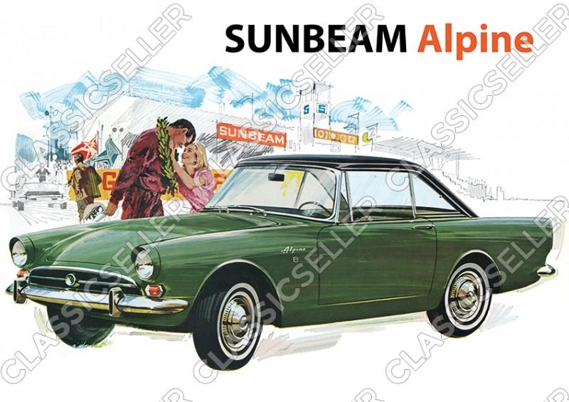 Sunbeam Alpine Auto PKW Poster Plakat Bild Kunstdruck