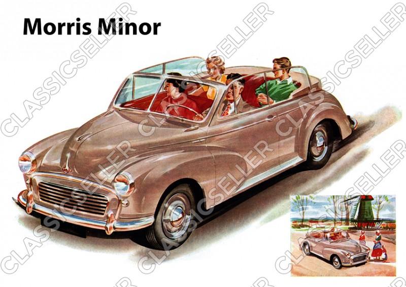Morris Minor Cabrio PKW Auto Poster Plakat Bild