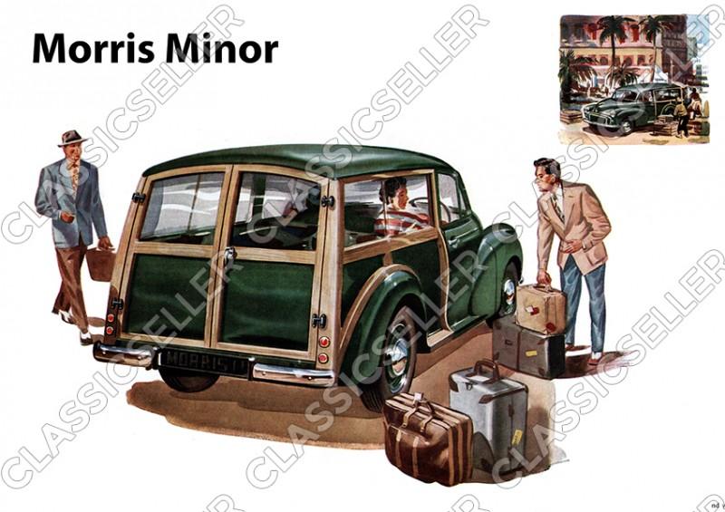 Morris Minor Kombi PKW Auto Poster Plakat Bild Kunstdruck