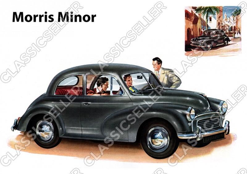 Morris Minor PKW Auto Poster Plakat Bild Kunstdruck