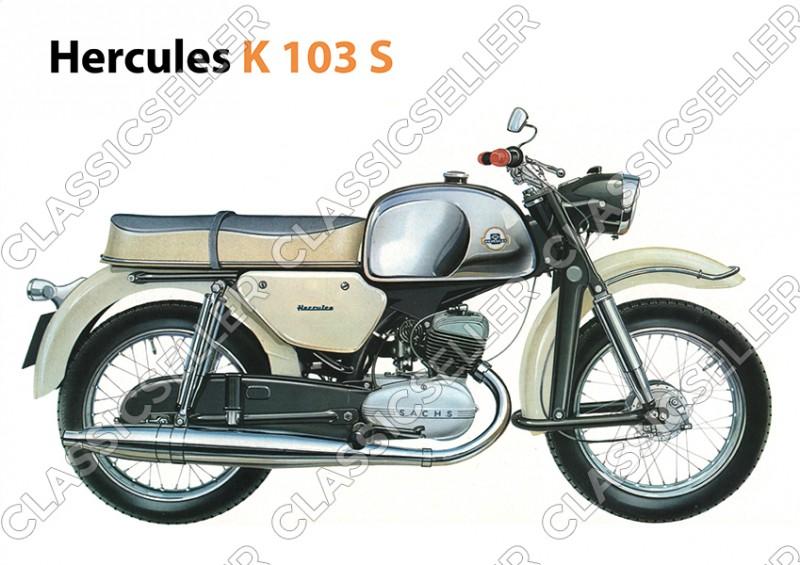 Hercules K 103 S Motorrad K103S Poster Plakat Bild Kunstdruck