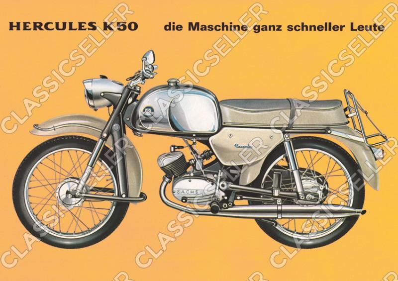 Hercules K 50 Poster Plakat Bild Kunstdruck