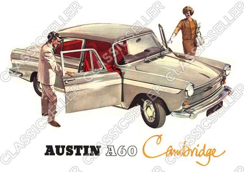 Austin A60 Cambridge Auto PKW Wagen Poster Plakat Bild
